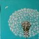 Картины цветов ручной работы. Картина маслом Одуванчик. Ольга Легейда. Интернет-магазин Ярмарка Мастеров. Картина в гостиную, одуванчики