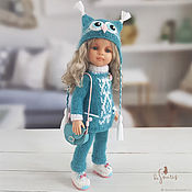 Куклы и игрушки handmade. Livemaster - original item Clothes for Paola Reina dolls. Blue owl set