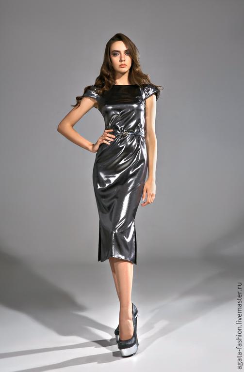 f1077954a733bfc Платья ручной работы. Ярмарка Мастеров - ручная работа. Купить Коктейльное  платье серого цвета, ...