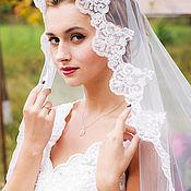 Фаты ручной работы. Ярмарка Мастеров - ручная работа Фата невесты на свадьбу. Handmade.