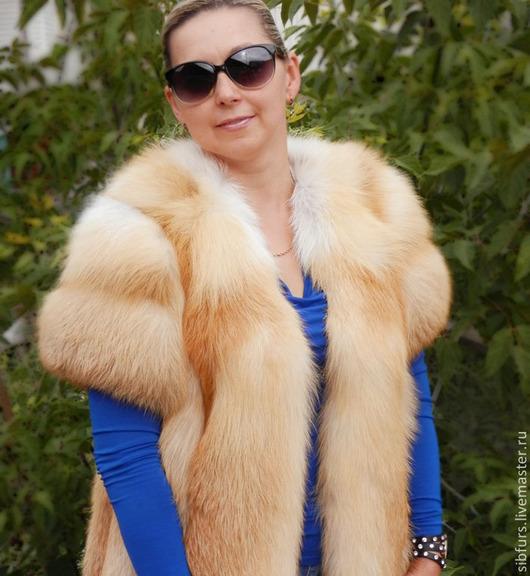 Жилеты ручной работы. Ярмарка Мастеров - ручная работа. Купить Жилет из меха  лисы,с рукавом. Handmade. Жилет из лисы