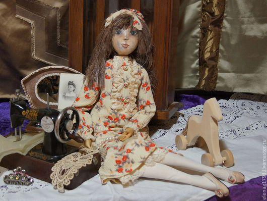 Коллекционные куклы ручной работы. Ярмарка Мастеров - ручная работа. Купить Карина. Handmade. Бежевый, ребенок, карина, Папье-маше