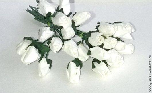 Открытки и скрапбукинг ручной работы. Ярмарка Мастеров - ручная работа. Купить Бутоны крупные  белые. Handmade. Цветы