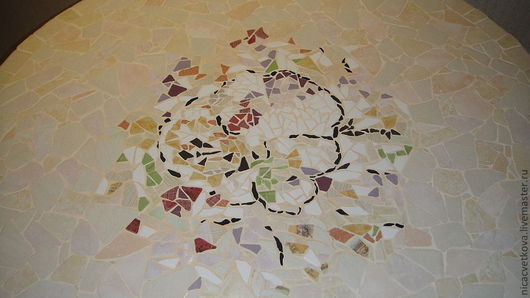 """Мебель ручной работы. Ярмарка Мастеров - ручная работа. Купить Мозаика, Стол обеденный """"Весеннее настроение"""",. Handmade. Стол, дерево"""