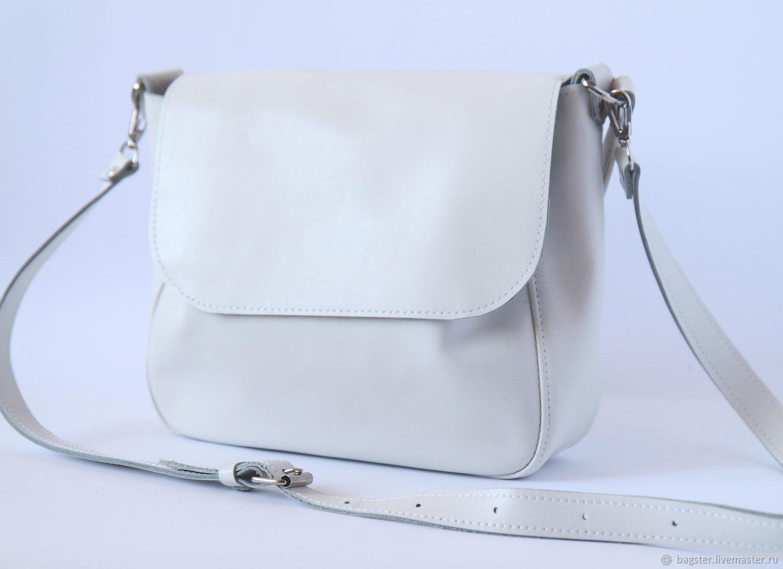 Женские сумки ручной работы. Ярмарка Мастеров - ручная работа. Купить Белая сумка из натуральной кожи. Handmade. Белый