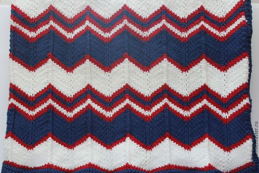 Пледы и одеяла ручной работы. Ярмарка Мастеров - ручная работа. Купить Детский плед в морском стиле. Handmade. Разноцветный, синий