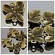 Подвеска Орхидея из металлического сплава с покрытием античная бронза для использования в сборке украшений в качестве коннектора по 5 штук