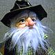 Коллекционные куклы ручной работы. Ярмарка Мастеров - ручная работа. Купить Авторская кукла Лепрекон. Handmade. Зеленый, стильный подарок