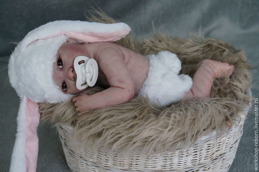Куклы-младенцы и reborn ручной работы. Ярмарка Мастеров - ручная работа. Купить Мамина Зайка,кукла реборн, малыш, мини реборн. Handmade.