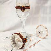 """Свадебный салон ручной работы. Ярмарка Мастеров - ручная работа Свадебные бокалы """"Роскошь"""". Handmade."""