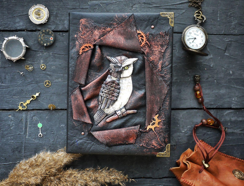 A notebook series 'Mechanical Animals' - Owl, Notebooks, Novosibirsk,  Фото №1