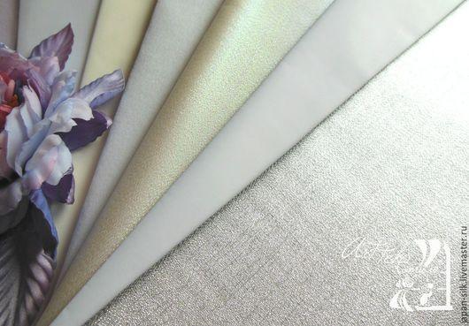 Ткань для цветов ручной работы. Ярмарка Мастеров - ручная работа. Купить Хагоромо (жемчуг) - органза (радужная). Handmade. Разноцветный, хагоромо