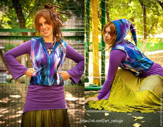 Этническая одежда ручной работы. Ярмарка Мастеров - ручная работа. Купить Волшебная эльфийская жилетка транс-стайл. Handmade.