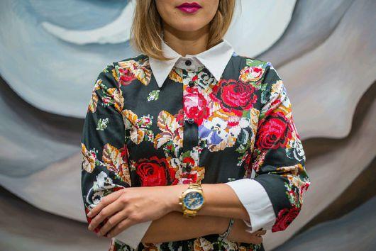 Платья ручной работы. Ярмарка Мастеров - ручная работа. Купить Платье в стиле А ля Рус - Розы на черном (ПИКСЕЛЬНЫЕ ЦВЕТЫ). Handmade.