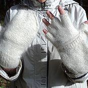 Аксессуары handmade. Livemaster - original item Mittens fingerless gloves made out of dog fur (fuzz). Handmade.