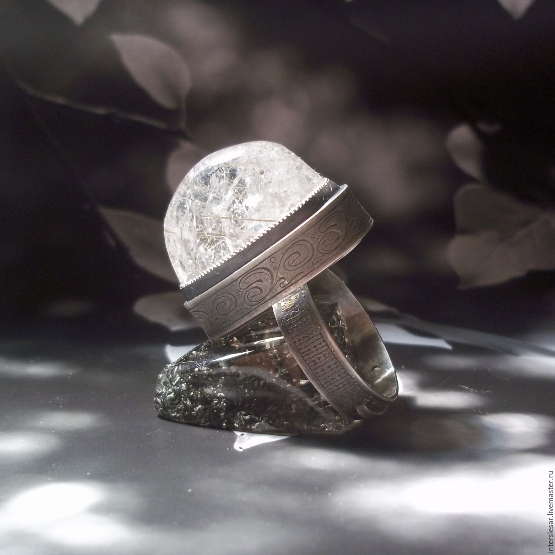 Quartz rutilated rutile ring 'Modern', Rings, Moscow,  Фото №1