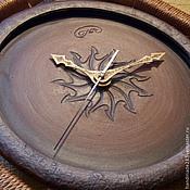 """Для дома и интерьера ручной работы. Ярмарка Мастеров - ручная работа Настенные часы """"Нити времени 2"""". Handmade."""