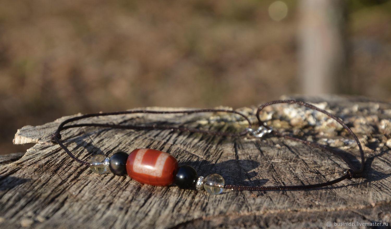 Short Choker Necklace with Himalayan Ji Bead, Silver, Chokers, Pereslavl-Zalesskij,  Фото №1