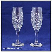 Посуда handmade. Livemaster - original item Champagne glasses