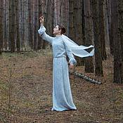 Одежда ручной работы. Ярмарка Мастеров - ручная работа Шерстяное платье из паутинки. Handmade.