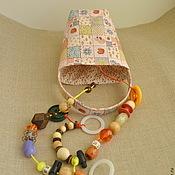 Куклы и игрушки ручной работы. Ярмарка Мастеров - ручная работа Развивающая сумочка для детей от 6 месяцев. Handmade.