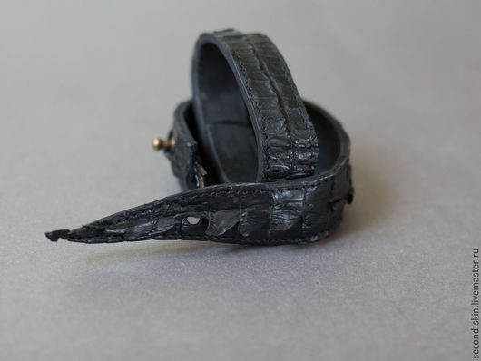 Браслеты ручной работы. Ярмарка Мастеров - ручная работа. Купить Браслет-флешка из крокодила. Handmade. Саймон, браслет, крокодиловый браслет
