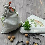 Для дома и интерьера ручной работы. Ярмарка Мастеров - ручная работа Мешочки для хранения продуктов и кухонных принадлежностей. Handmade.