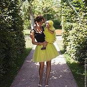 Одежда ручной работы. Ярмарка Мастеров - ручная работа юбка-пачка Цитрус и платье для малышки. Handmade.