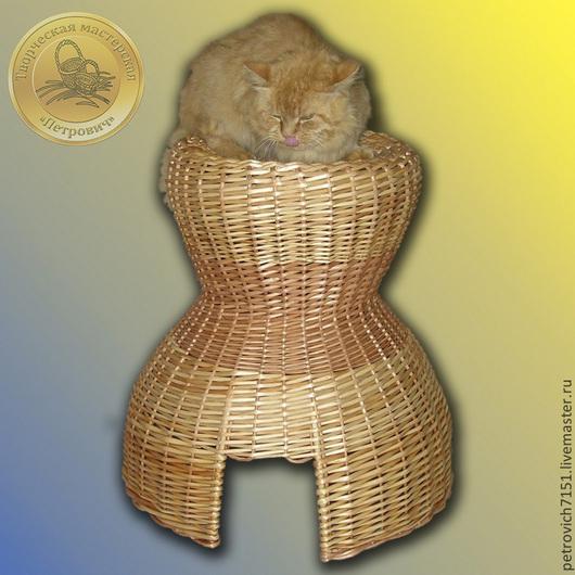 Аксессуары для кошек, ручной работы. Ярмарка Мастеров - ручная работа. Купить Кошкин дом. Handmade. Кот, корзина для кошки, питомец