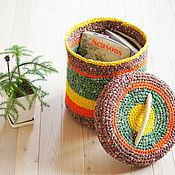 Для дома и интерьера ручной работы. Ярмарка Мастеров - ручная работа Корзина вязаная. Handmade.