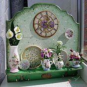 Для дома и интерьера handmade. Livemaster - original item Panel+clock+hanger