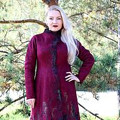 "Одежда ручной работы. Ярмарка Мастеров - ручная работа Авторское валяное пальто"" Аutumn berries"". Handmade."