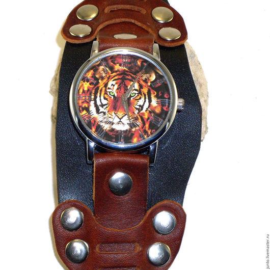 """Часы ручной работы. Ярмарка Мастеров - ручная работа. Купить Мужские наручные часы """"Тигр"""". Handmade. Комбинированный"""
