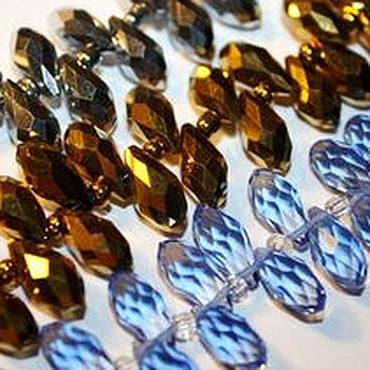 Материалы для творчества ручной работы. Ярмарка Мастеров - ручная работа Стекло, капля 11,5 мм, три цвета. Handmade.