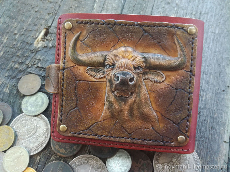 Портмоне (кошелек, бумажник) двойного сложения (Bi-fold wallet) № 36, Кошельки, Ковров,  Фото №1