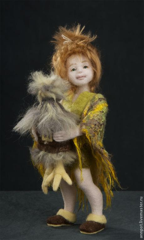 Коллекционные куклы ручной работы. Ярмарка Мастеров - ручная работа. Купить Авторская войлочная кукла Домовушка Катюшка. Handmade. Домовой