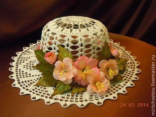 Шляпы ручной работы. Ярмарка Мастеров - ручная работа. Купить Шляпка Лето. Handmade. Белый, летняя, летняя шляпа, цветы
