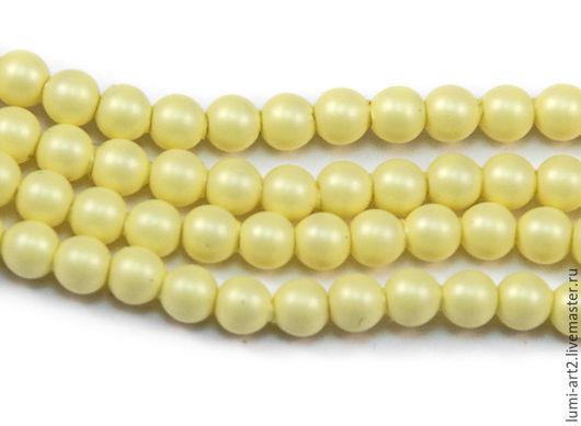 Для украшений ручной работы. Ярмарка Мастеров - ручная работа. Купить 3мм Pastel Yellow Жемчуг Сваровски Swarovski Perl 40 шт. Handmade.
