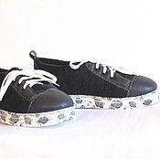 Обувь ручной работы handmade. Livemaster - original item Grey felt sneakers 37 ROS. size.. Handmade.
