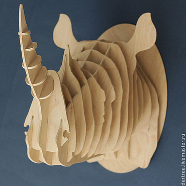 Для дома и интерьера ручной работы. Ярмарка Мастеров - ручная работа Голова Носорога. Handmade.