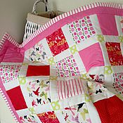 Работы для детей, ручной работы. Ярмарка Мастеров - ручная работа Лоскутное одеяло для новорожденного На выписку В коляску В кроватку. Handmade.
