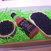 """Мыло ручной работы. Ярмарка Мастеров - ручная работа Подарок мыло-сувенир """"Виски с икрой""""(черная). Handmade."""