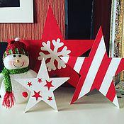 """Подарки к праздникам ручной работы. Ярмарка Мастеров - ручная работа Набор """"Новогодние звезды"""". Handmade."""
