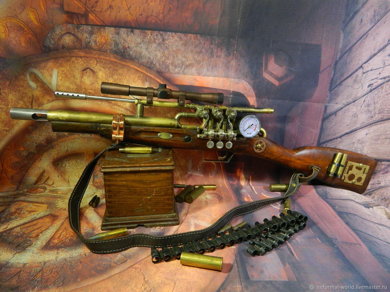 "Steampunk handmade. Livemaster - handmade. Buy SCREW IN THE STYMPAN STYLE ""KILLER STIMPANK"".Black, bandolier steampunk, carbines"