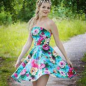 Одежда ручной работы. Ярмарка Мастеров - ручная работа Цветочное платье. Handmade.