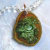 Украшения handmade. Livemaster - original item The pendant painting on stone