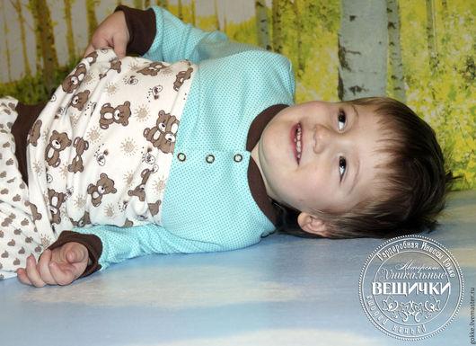 """Одежда для мальчиков, ручной работы. Ярмарка Мастеров - ручная работа. Купить Дуэт """"Сладкоежка"""" . Пижама.. Handmade. Коричневый, авторская пижама"""
