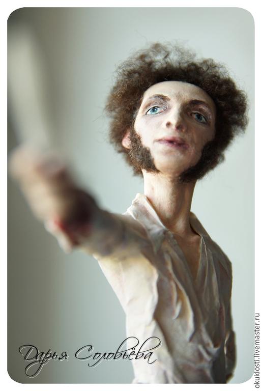 Коллекционные куклы ручной работы. Ярмарка Мастеров - ручная работа. Купить Пушкин. Handmade. Разноцветный, портрет, кровь, рукописи, бумага