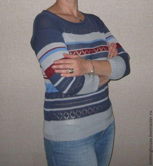 """Кофты и свитера ручной работы. Ярмарка Мастеров - ручная работа. Купить Пуловер """"Летний вечер"""". Handmade. Пуловер вязаный"""