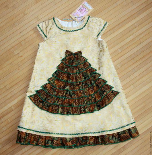 Одежда для девочек, ручной работы. Ярмарка Мастеров - ручная работа. Купить Платье новогоднее Елочка, детское нарядное на утренник Новый год. Handmade.